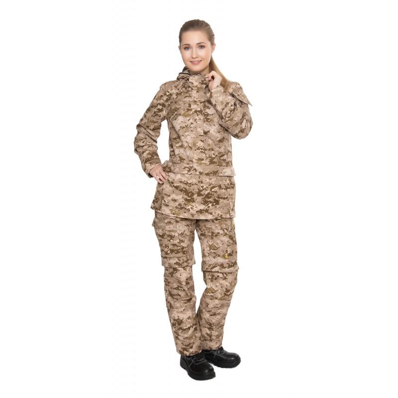 Костюм Биостоп Оптимум женский песочный камуфляж 46-48/158-164